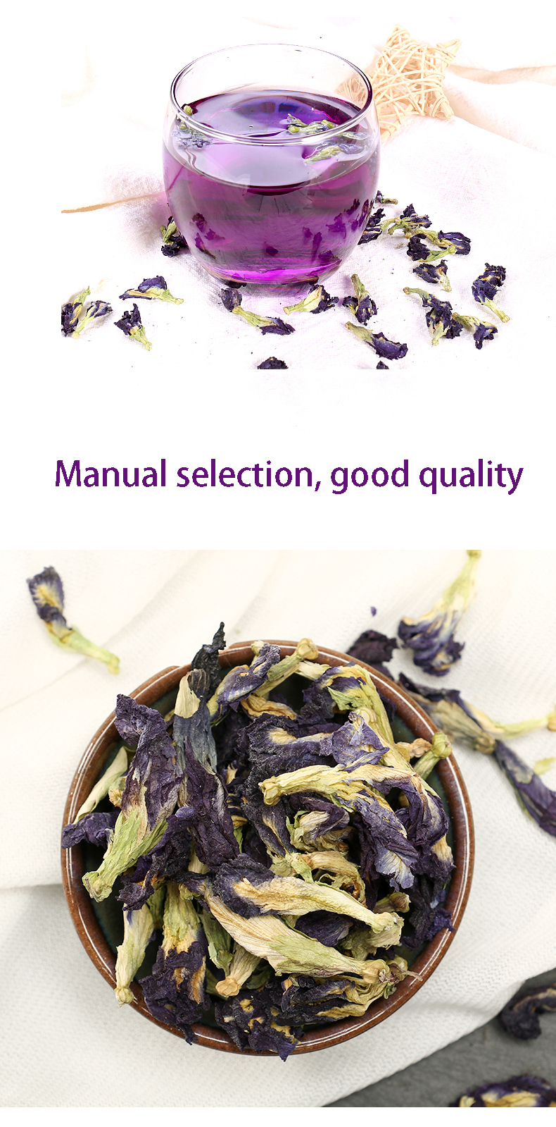 Dropship butterfly pea flower dried blue color butterfly pea tea - 4uTea | 4uTea.com