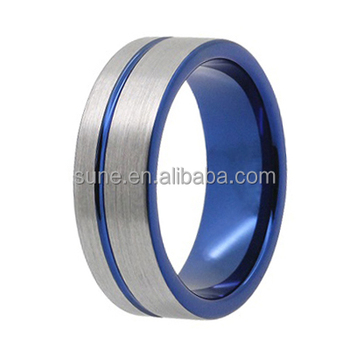 9613c0d2c73aa 8mm mens wedding bands brushed tungsten carbide ring blank inlay, View mens  wedding bands, OEM Product Details from Shenzhen Sune Jewelry Co., Limited  ...