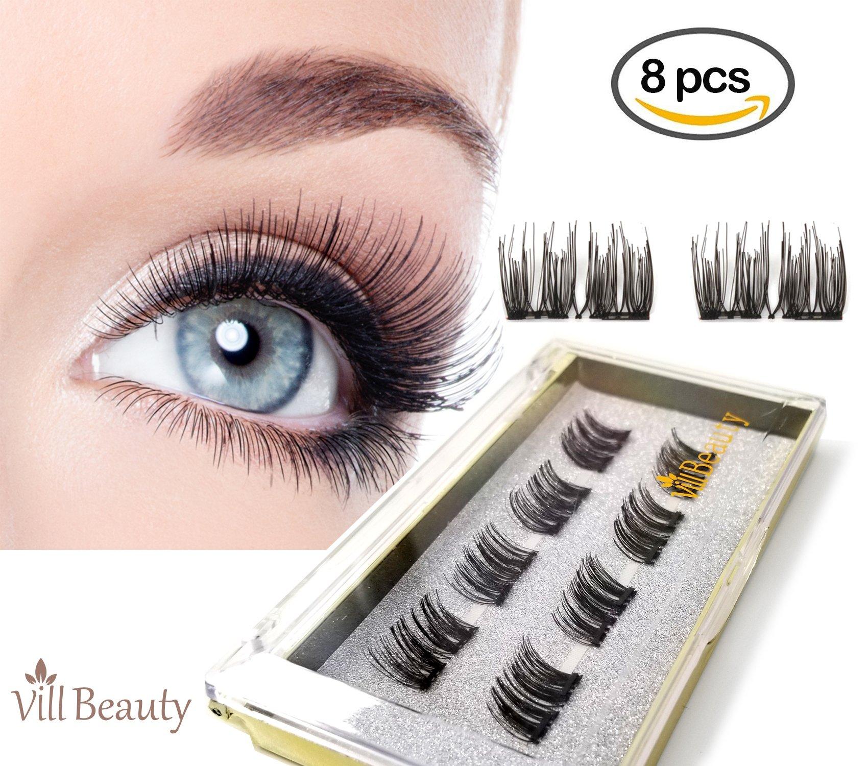 bed32167e42 Get Quotations · [Upgraded] Dual Magnetic False Eyelashes|False Eyelashes, Ultra  Thin, Natural Look