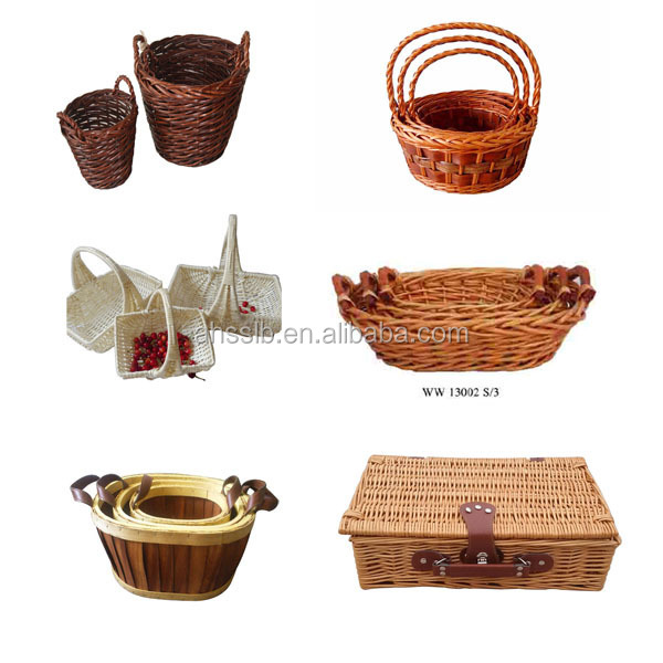 Blanco de mimbre cesta de frutas artesan a folclore - Cestos de mimbre blanco ...