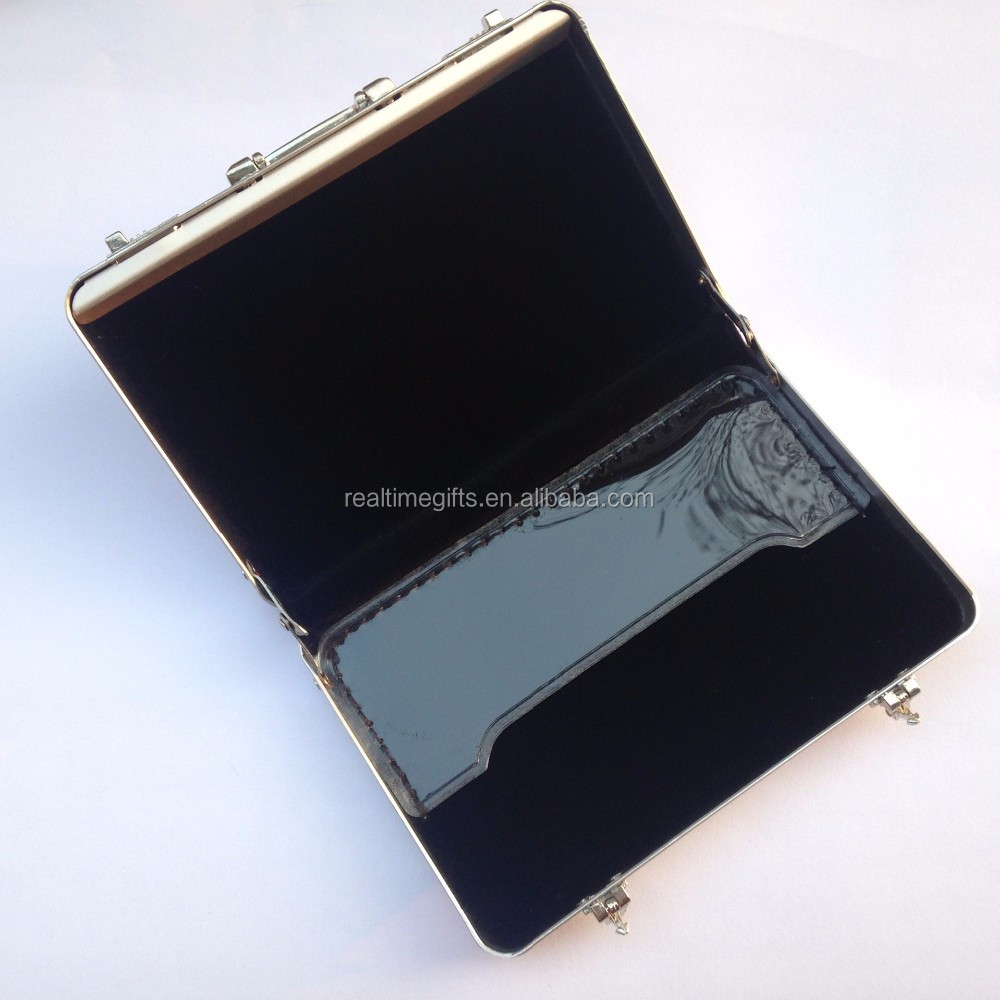 Fashion Exquisite Mini Aluminum Suitcase Name Card Holder Metal Card Case