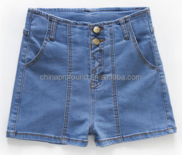 new style fashion women high waisted jeans shorts wholesale