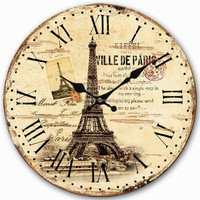 2016 Home Decor Large Vintage MDF Wall Clock for Interior decoration