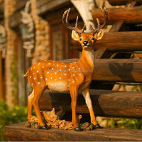 High quality home decoration deer statue;artificial resin deer for christmas decoration