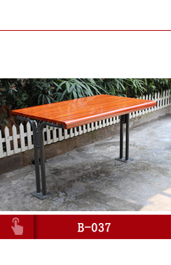 Durable outdoor public wooden seat/seating