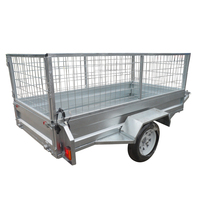 Hot dip gal tilt cargo 7x4 7x5 8x5 box trailer for farm
