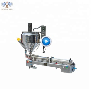 Bespacker new type semi auto liquid filling machine with heater and mixer