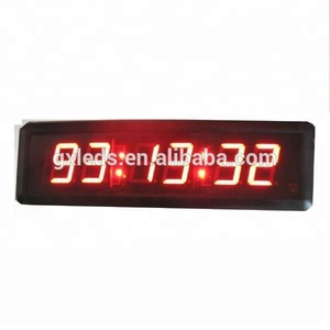 Ganxin 2.3 inch indoor wall stopwatch stopred led digital stopwath wall clock / countdown / stopwatch / sports timer