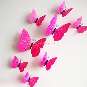 ZooYoo 3d Butterfly Wall Sticker Art Design Decal Home Decor Room Removable 3d  Butterfly Wall Stickers