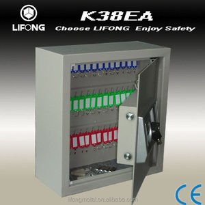 2015 electronic key safe box to storage the keys with key hooks inside