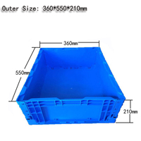 High Quality In Stock PP Material Blue Color Plastic Folding Tool Storage Box