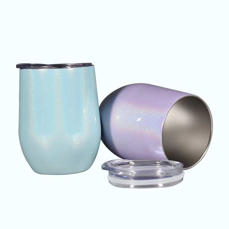 12OZ stainless steel wine tumblers double wall insulation vacuum water travel mugs rainbow camouflage color cups