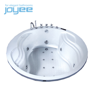 JOYEE round drop in upc bath tub with colorful underwater lights