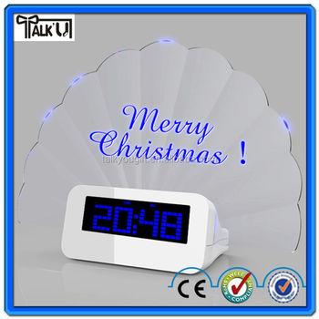 modern digital alarm clock. modern alarm clockled memo board digital clock with