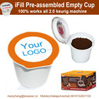 FDA Certificated Colored Customized Disposable Coffee Empty K Cup