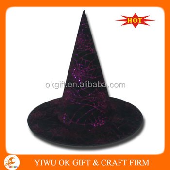 ff6ad7545 Halloween Purple Glitter Witch Hat With Spider - Buy Glitter Witch  Hat,Halloween Glitter Witch Hat,High Quality Spider Witch Hat Product on ...