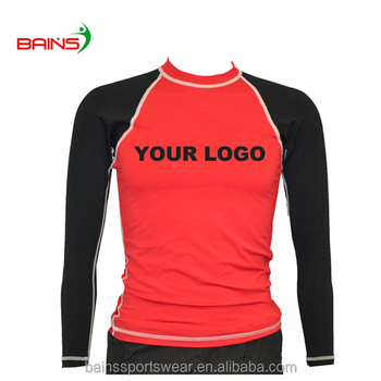 Long sleeve simple design custom rashguard mma
