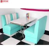 American diner booth leather restaurant booth retro restaurant furniture