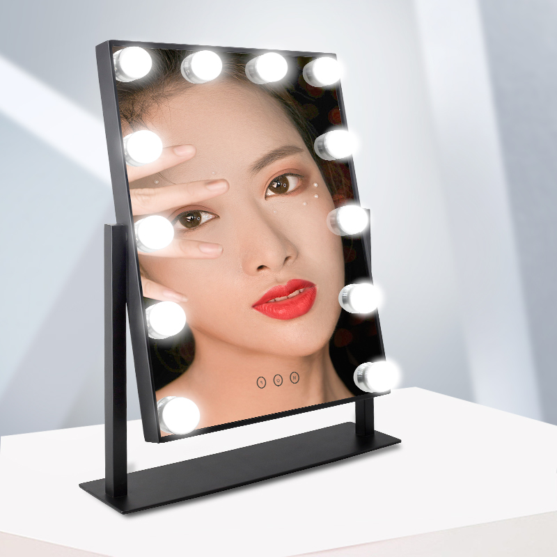 Guangdong Bathroom Square Led Light Big Bluetooth Vanity Mirror With Lights