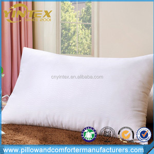High Quality Tube Shape Pillow Feather Soft Microfiber Pillow Travel Micro Bead Polystyrene Foam down pillow