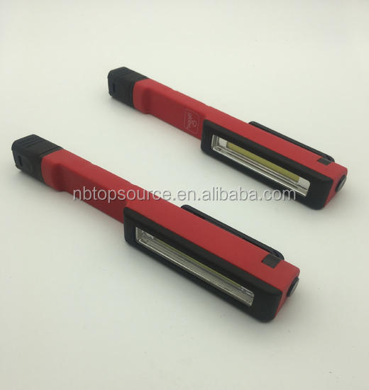 Pen shaped plastic COB working <strong>light</strong>, portable torch, outdoor emergency <strong>light</strong>
