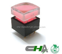 15*15mm push button switch with good quality illuminated switch with LED