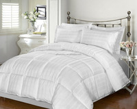 Wholesale solid dobby fabric reversible comforter