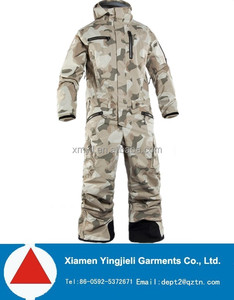 High quality adults outdoor camouflage ski overall camo ski suits one piece