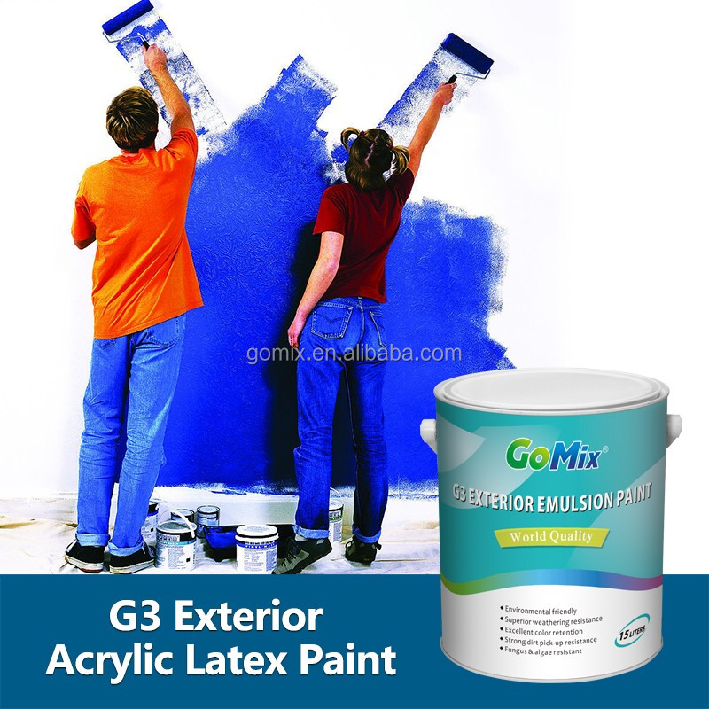 Premium Grade Long Durability G3 Best Acrylic Latex Exterior Paint View Best Acrylic Latex