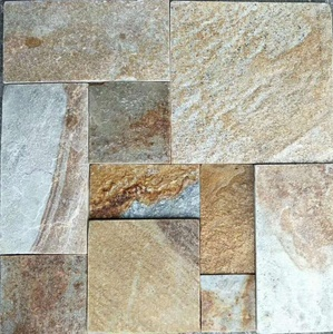 China Rustic Yellow slate quartzite tile