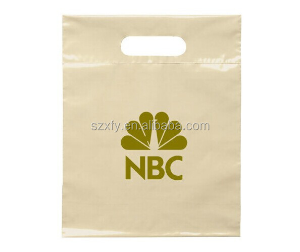 Promotional custom printed plastic retail shopping bags/handle bags