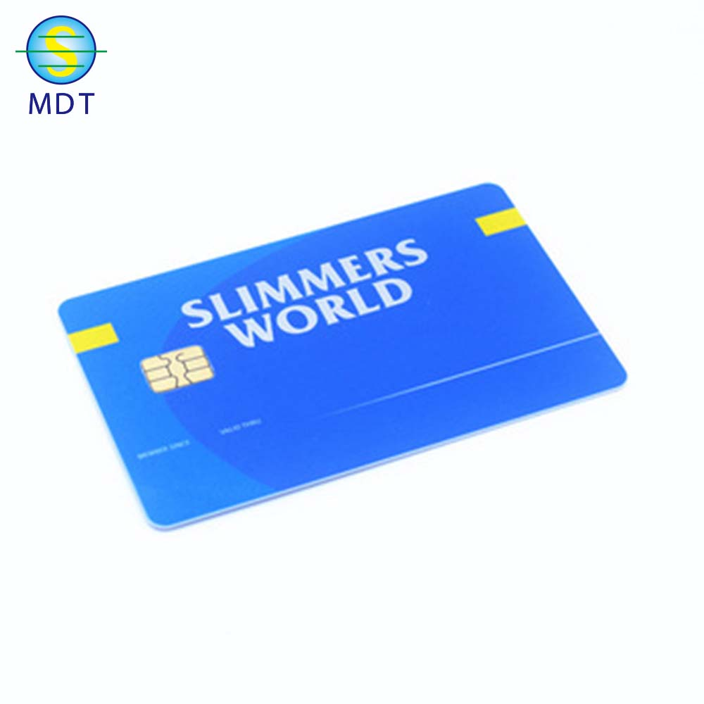 MDT plastic pvc printing clear business blank card