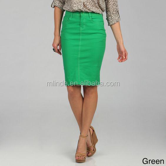 67206c0a7b Custom Denim Knee Lenght Skirts Wholesale Modest Ladies Jeans Brightly  Coloured Christmas Long Denim Skirt For Spring Summer - Buy Denim  Skirt,Modest ...