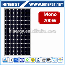 Bluesun 200wp solar modules 200w mono-crystalline silicon solar panel 2016 hot Sales