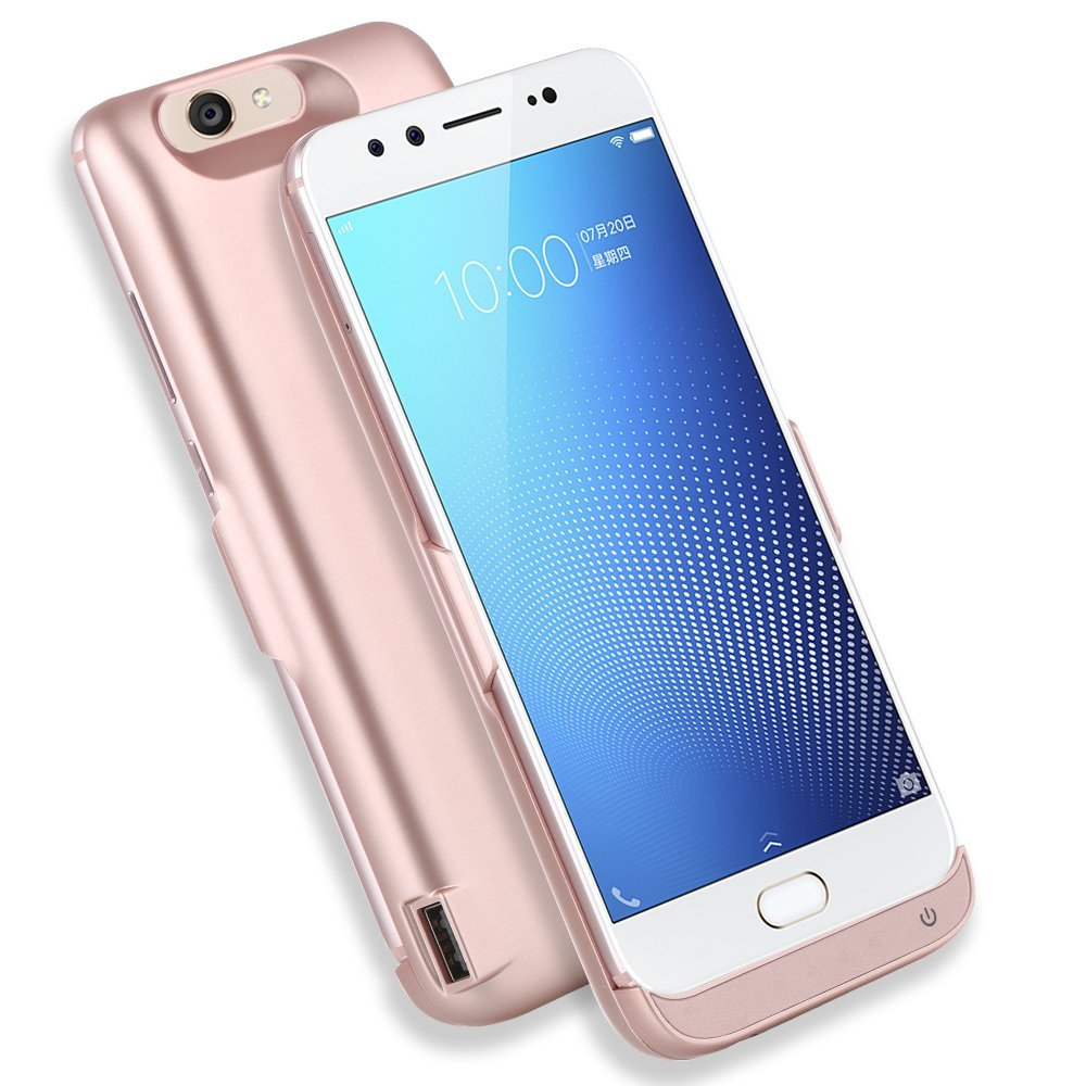 AICEDA Vivo X9s Plus 8000mAh Battery Case, Shockproof Rechargeable Portable Charger Backup Power Case for Vivo X9s Plus 8000mAh - Rose Gold