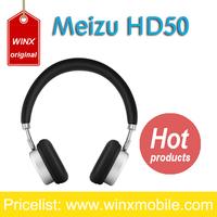 Original Meizu HD50 Headphone HIFI Stereo Metal earphone wired Headset With Microphone