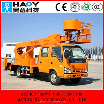 Truck Mounted Crane With Cradle For Aerial Working Platform For ...