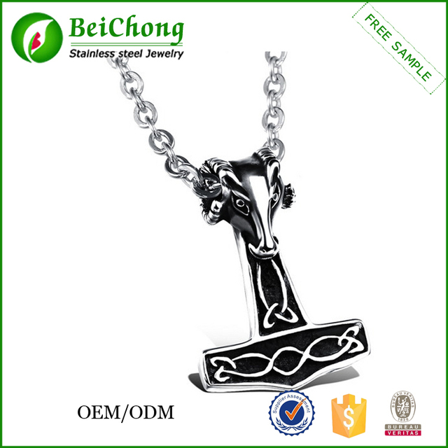 Buy cheap china personalized necklace pendants products find china cheap personalized necklace pendants sheep head hammer mjolnir pendant aloadofball Images