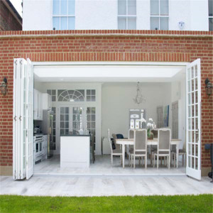 Gloriours design aluminum bifold/folding/sliding glass door