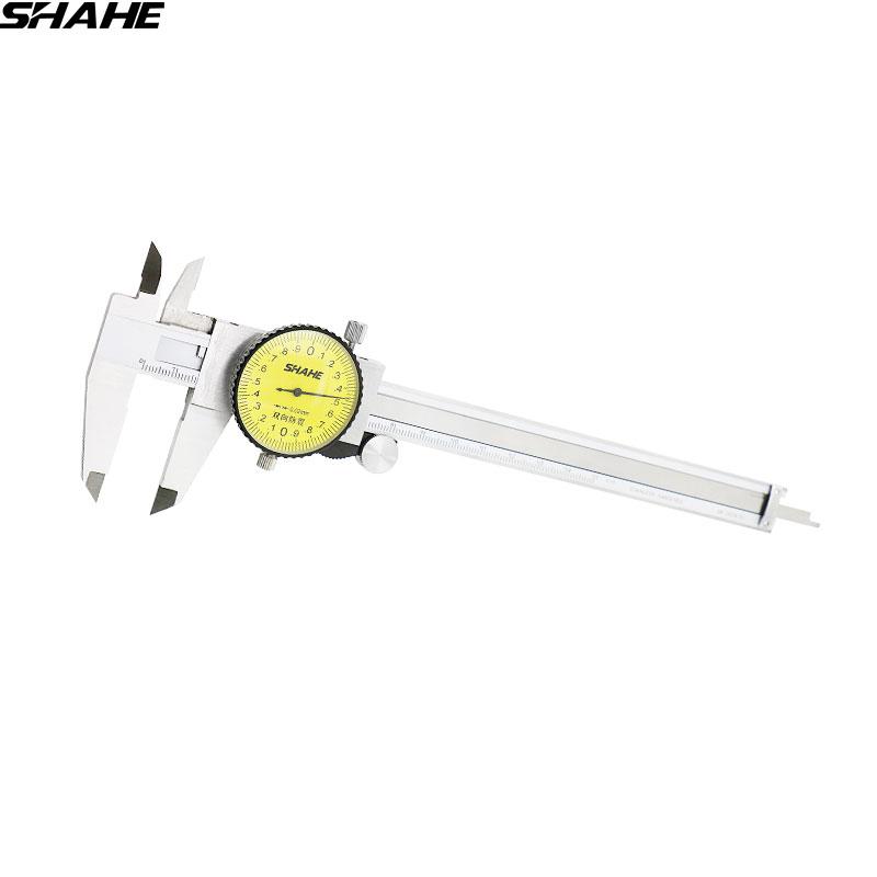 200 mm 0.02 mm Double Shock Dial Vernier Caliper Gauge Measuring Tool 5105-200