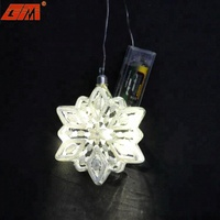Christmas tree decorative hanging handmade led glitter glass snowflake ornaments