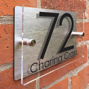 China product custom wall signs Acrylic House Number Plate door sign wall signage