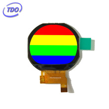 lower consumption round tft lcd 240*204 resolution 1.22inch round lcd display module with SPI for smart watch