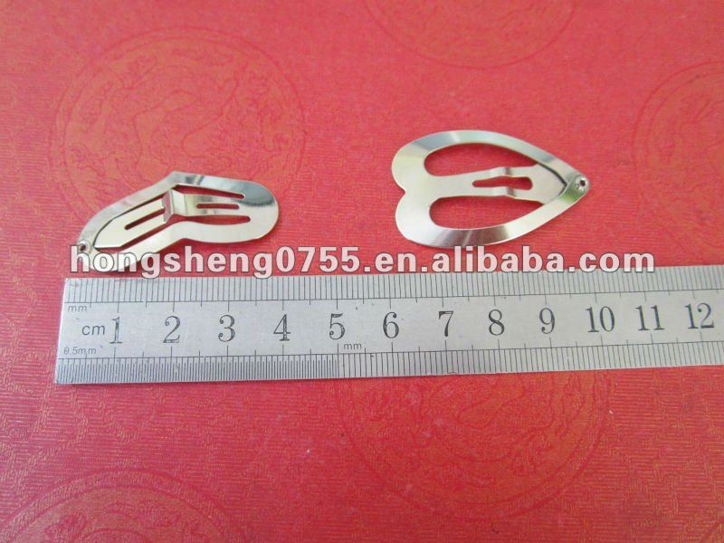 Hot Selling Cheap Price Fashion Metal Hair Snap Clip,Heart Shaped Metal Hair Clips