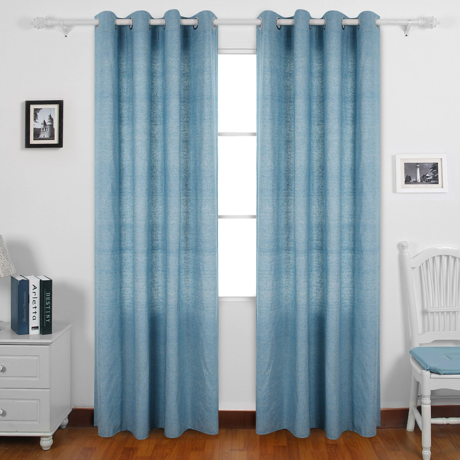 navy striped blue white curtains and outstanding curtain