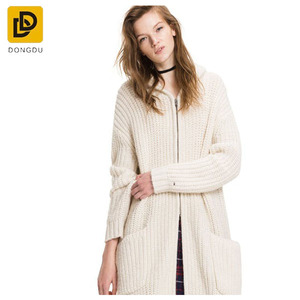 wholesale cashmere instock dress knitting hooded cardigan women's shrug sweater
