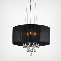 High quality crystal fancy indoor chandelier pendant lighting