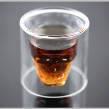 Unique cool gift items skull shape whisky glass