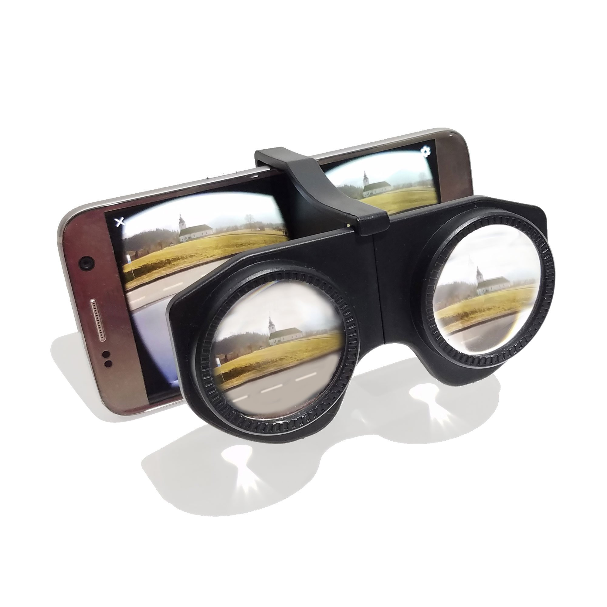 587eb13f3b6 Get Quotations · Mini Plastic Foldable 3D VR Glasses HD VR Lens