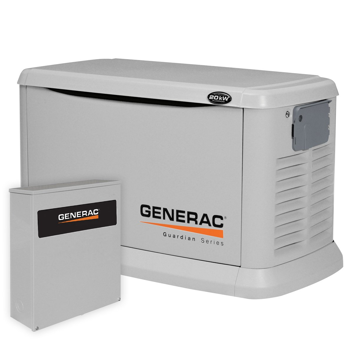 Generac 6244 20,000 Watt Air-Cooled Aluminum Enclosure Liquid Propane/Natural Gas Powered Standby Generator with 200SE Transfer Switch (Discontinued by Manufacturer)